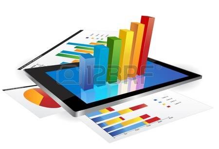 18695240-displej-tablet-s-3d-graf-a-papír-s-statistických-grafů